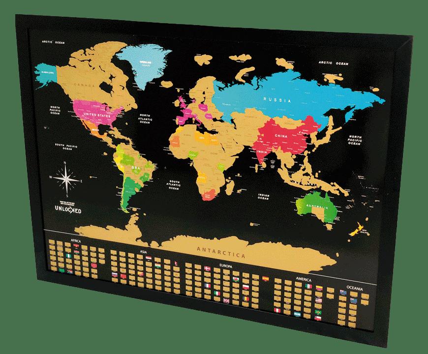 unlocked brasil - mapa mundi de raspar