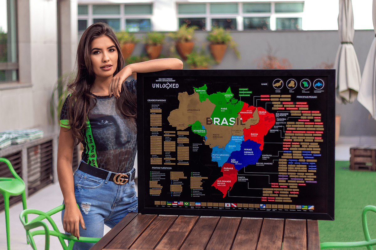 Mapa do Brasil unlocked de raspar