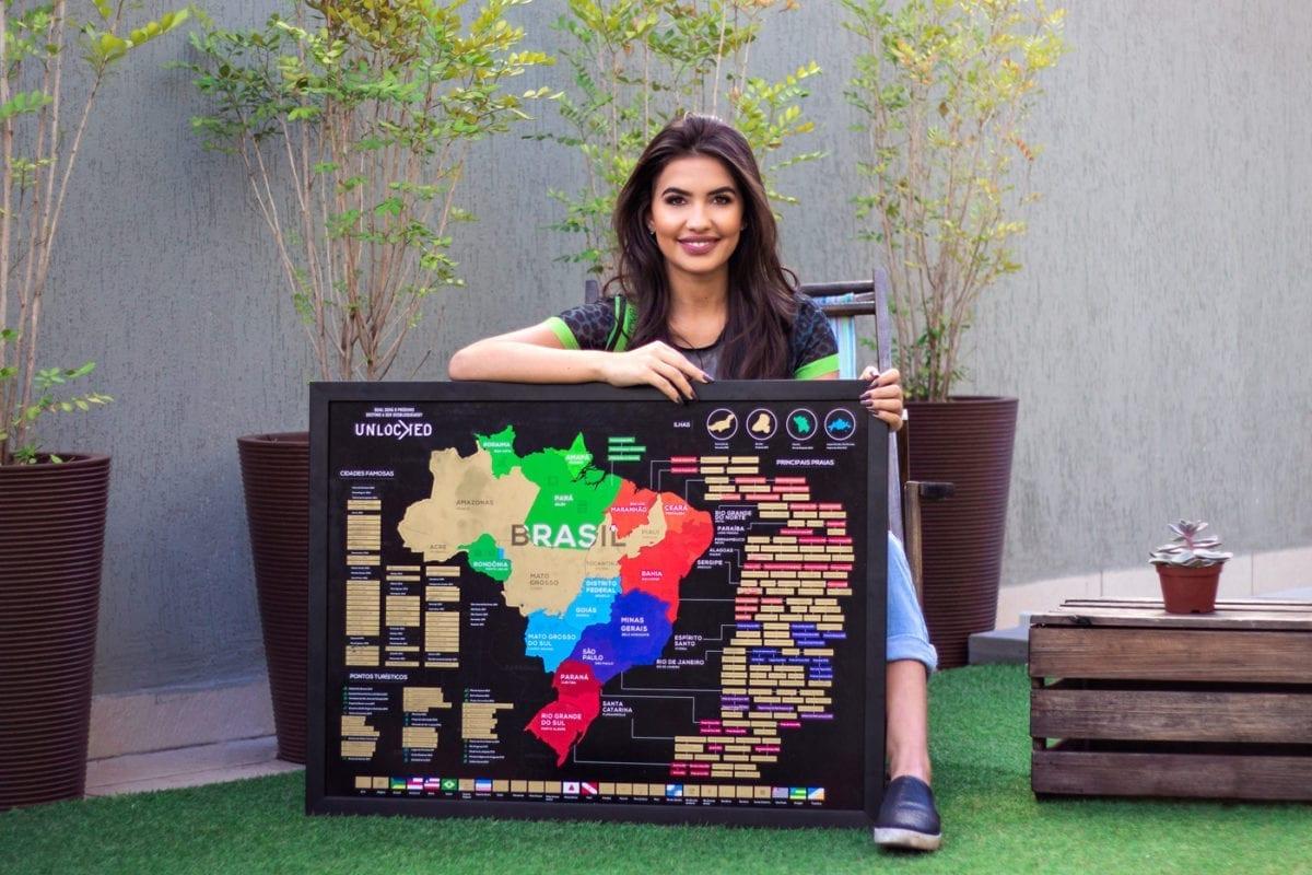 mapa de raspar com Alisse Betãnia com apresentação de Alisse