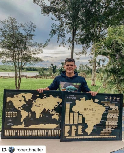 Mapa do Brasil Unlocked de Raspar photo review